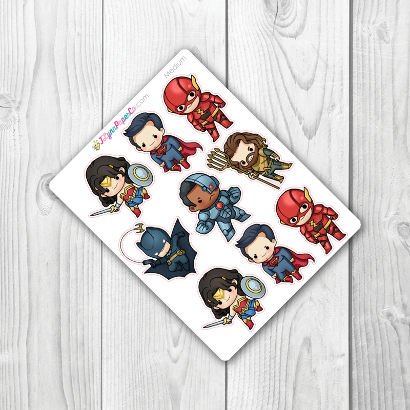 Super Hero 3 Character Stickers