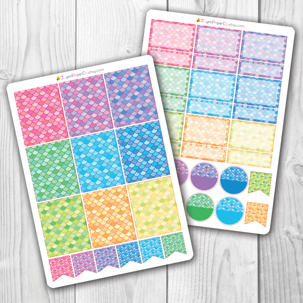 Mermaid Scale Box Stickers