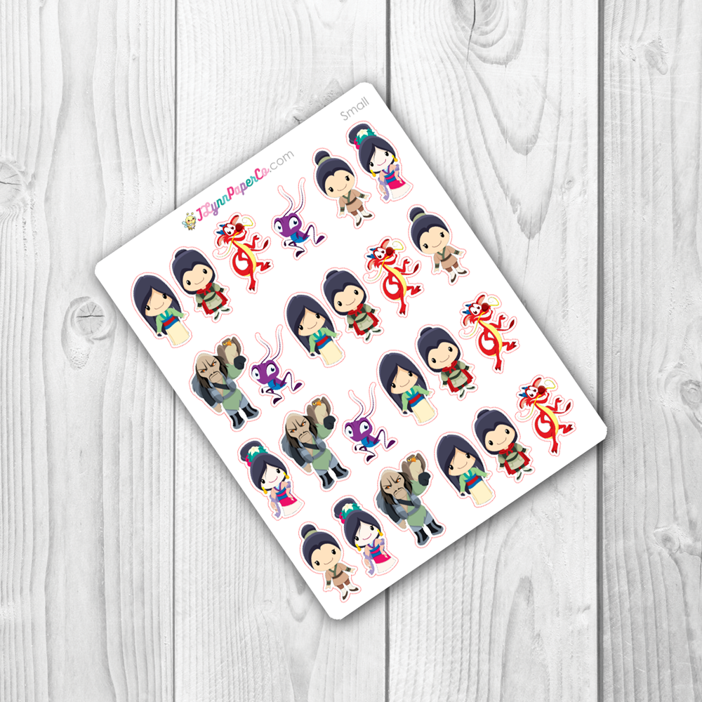 Chinese Princess Character Stickers