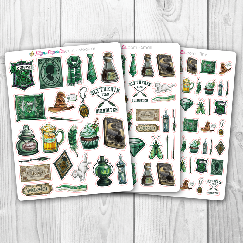 Green Wizard House Stickers