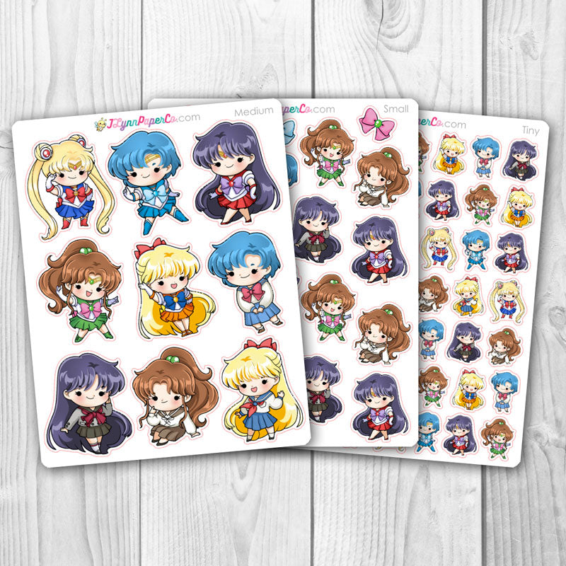 Sailor Moon Inner Character Stickers