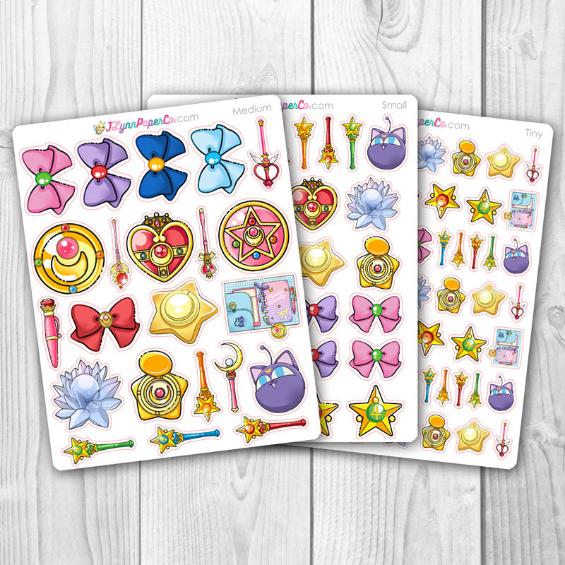 Sailor Moon Objects Stickers