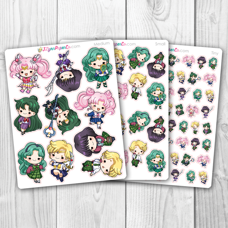 Sailor Moon Outer Character Stickers