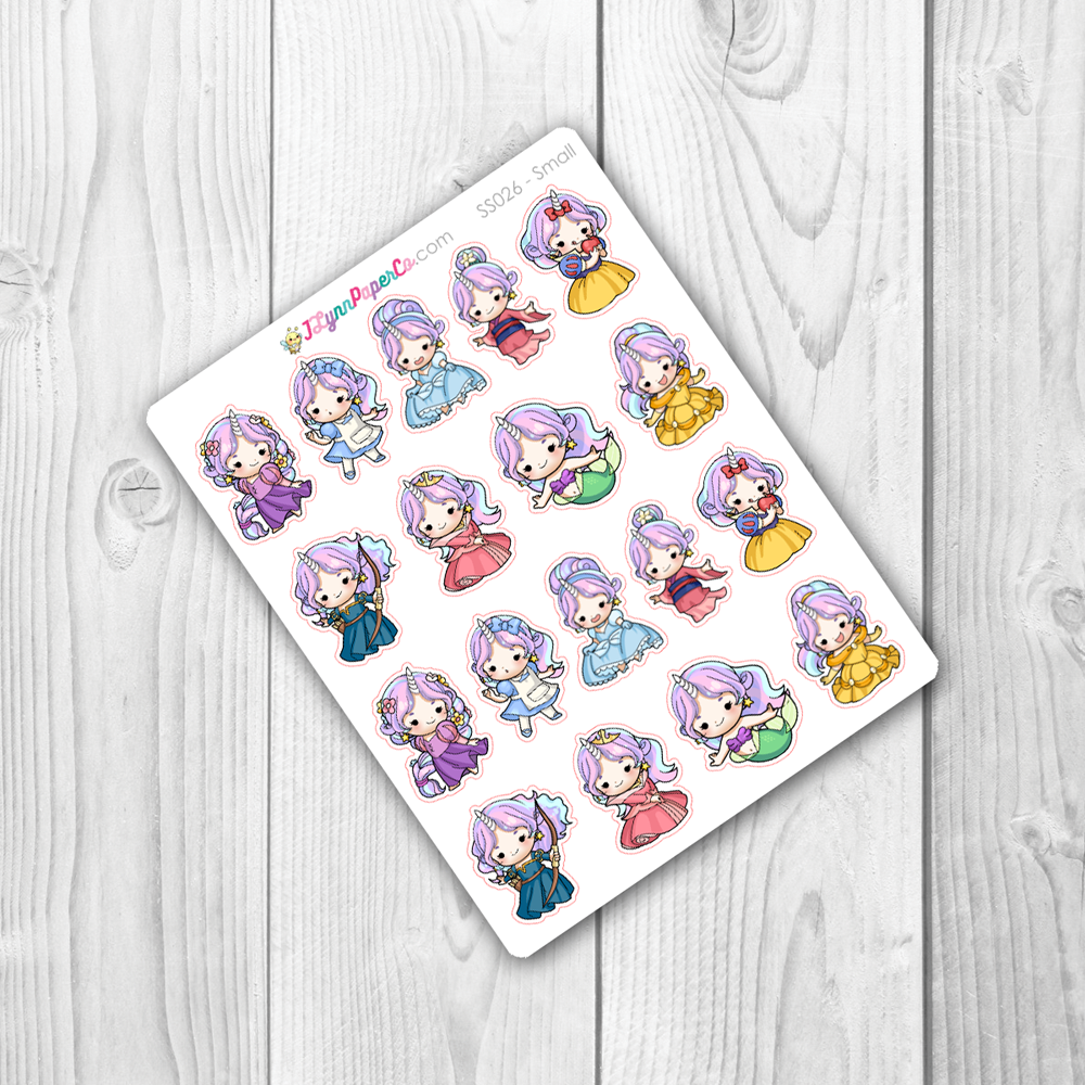 Starshine Princess Dress Up Character Stickers | SS026