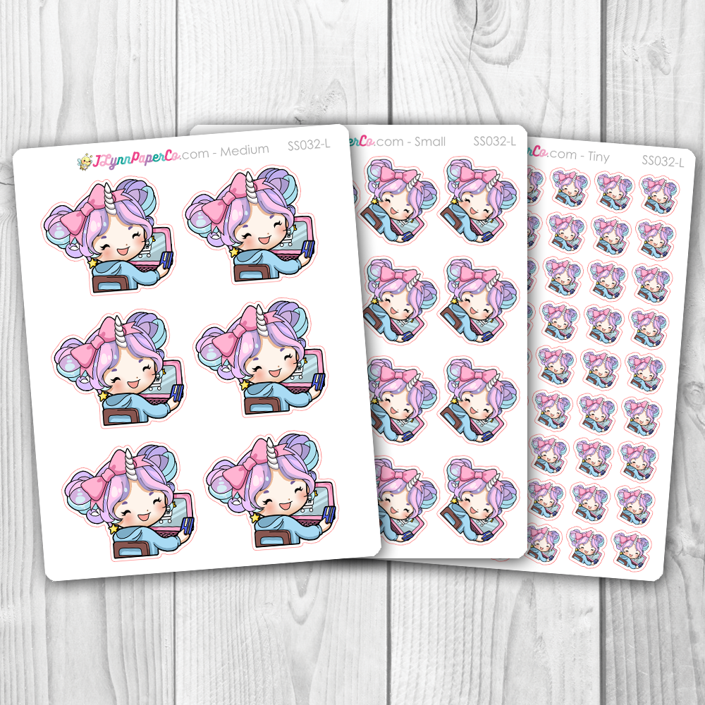 Starshine Online Shopping Character Stickers | SS032