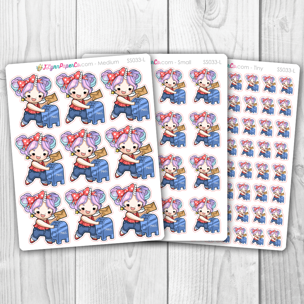 Starshine Mail Character Stickers | SS033