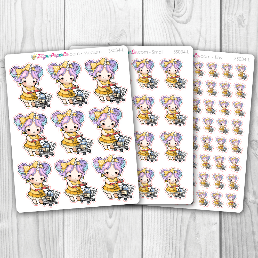 Starshine Grocery Shopping Character Stickers | SS034