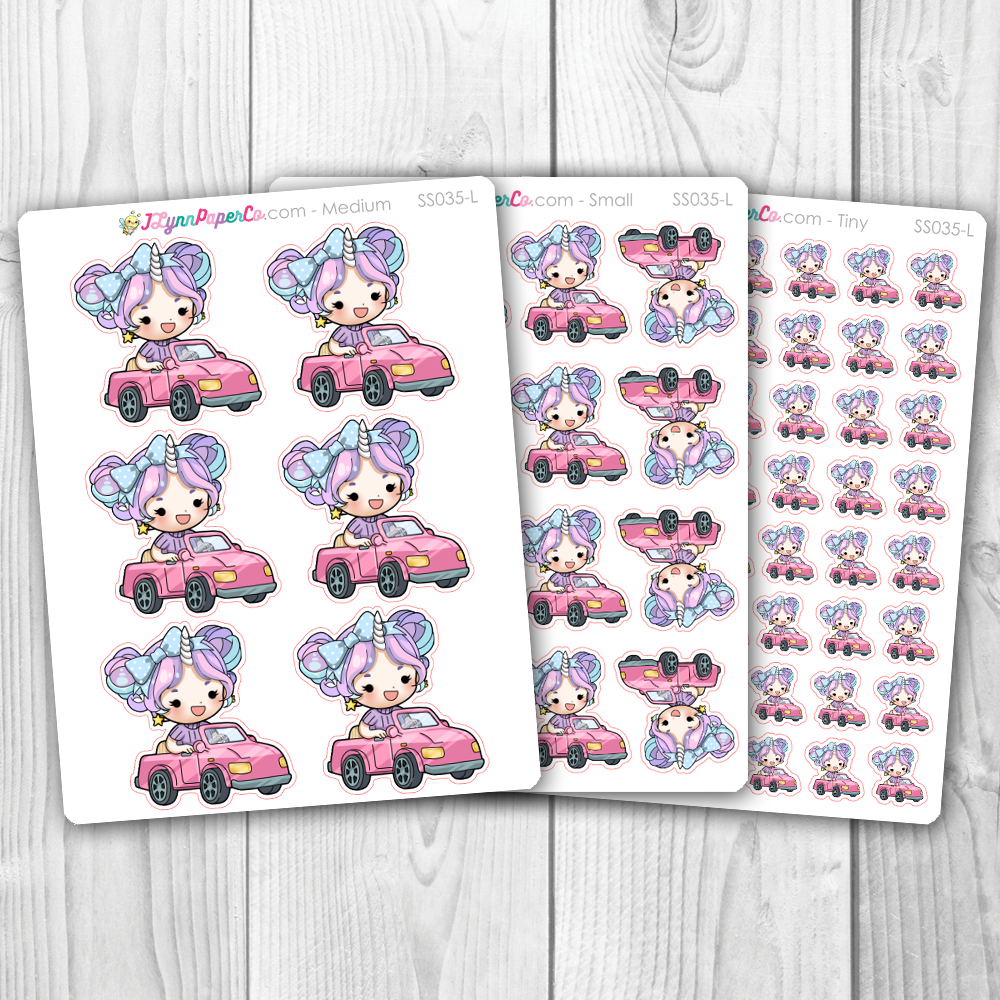 Starshine Driving Character Stickers | SS035