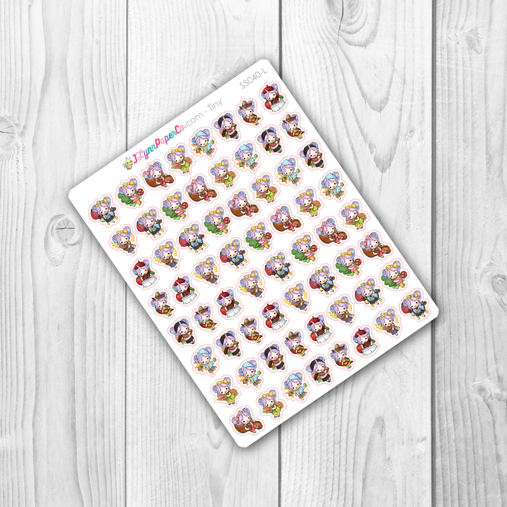 Starshine Eating Food Character Stickers | SS040
