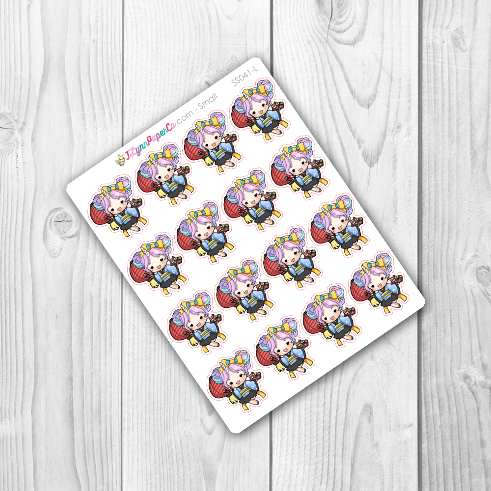 Starshine Eating Sushi Character Stickers | SS041