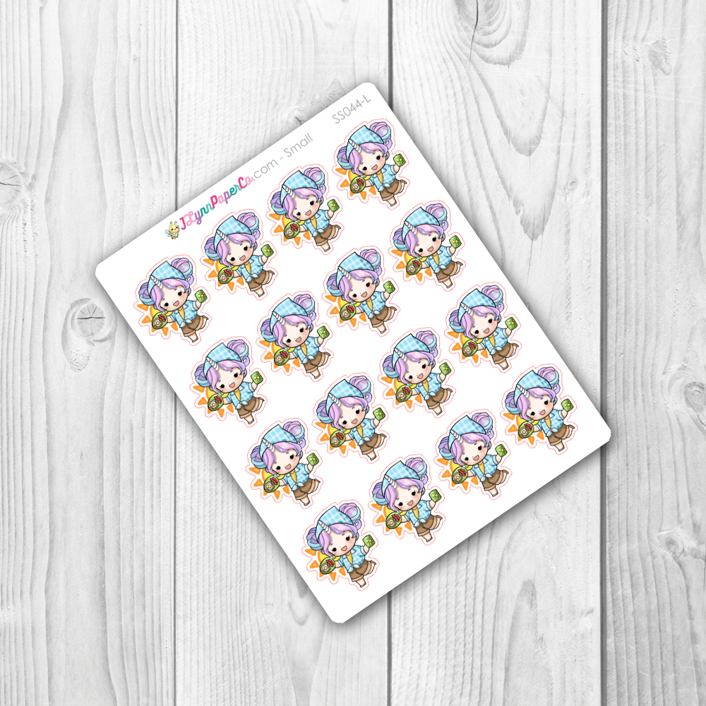 Starshine Eating Breakfast Character Stickers | SS044