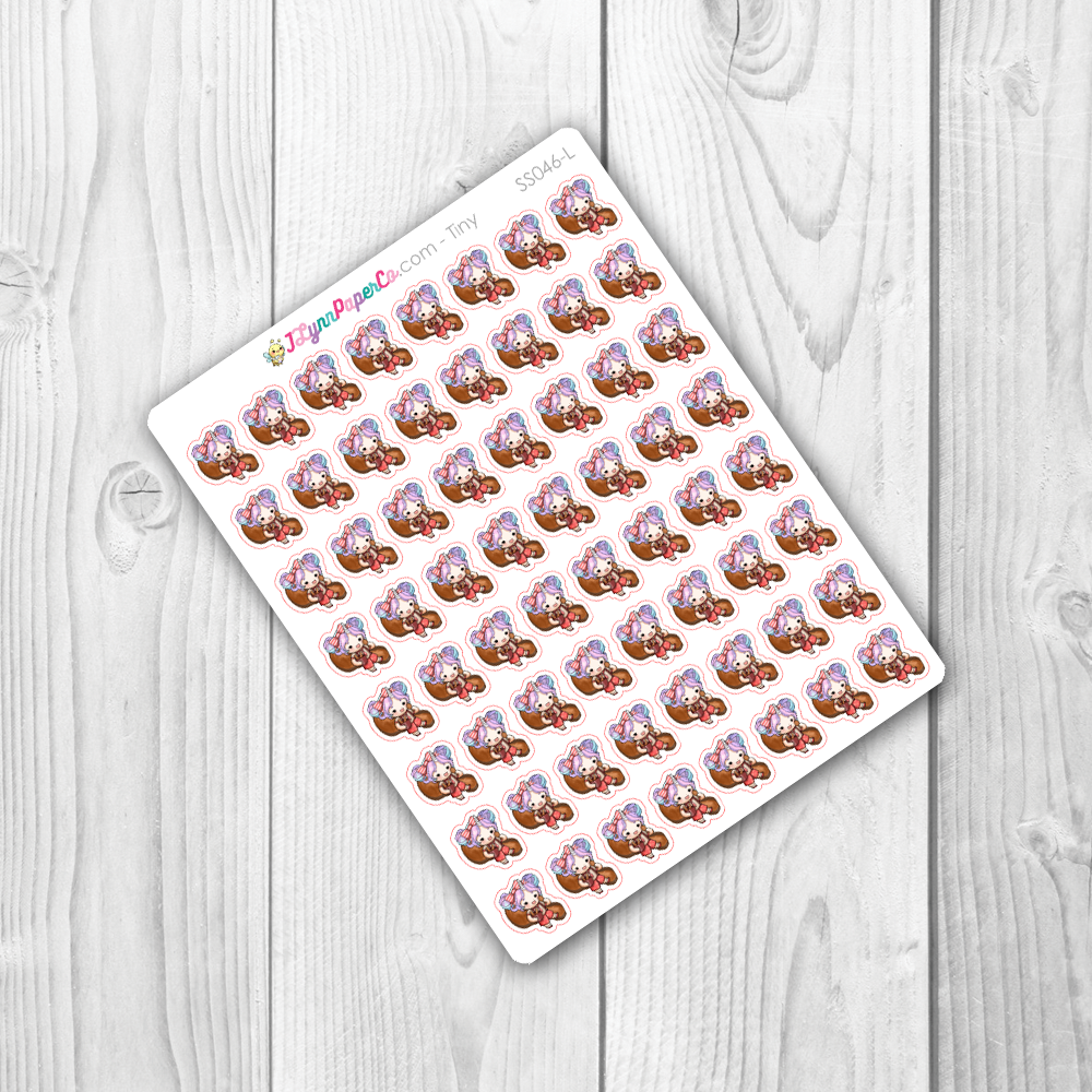 Starshine Eating Chicken Character Stickers | SS046