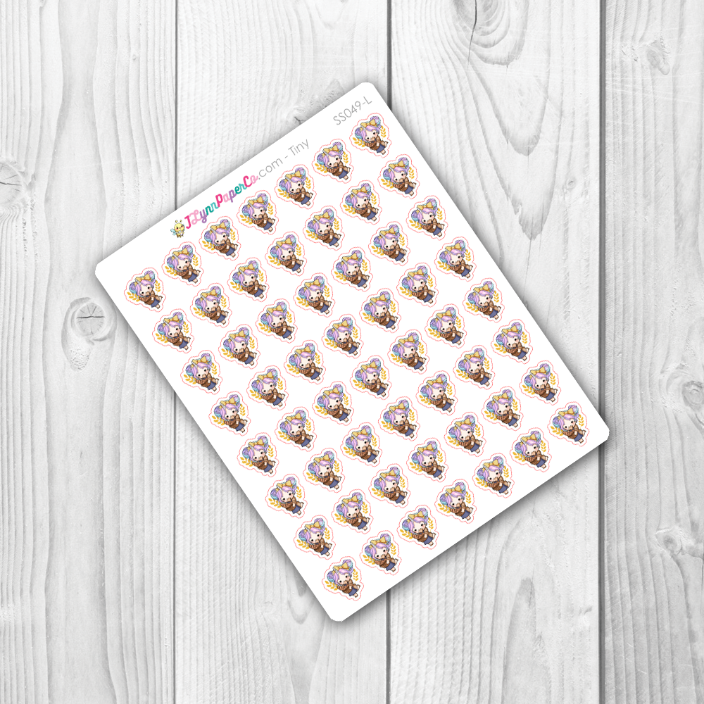 Starshine Eating Bread Character Stickers | SS049