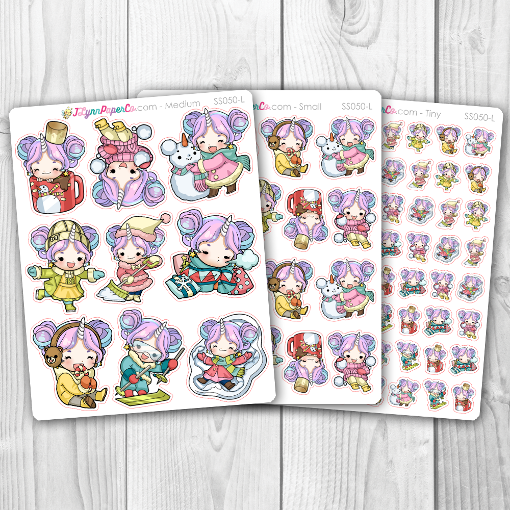 Starshine Winter Variety Character Stickers | SS050