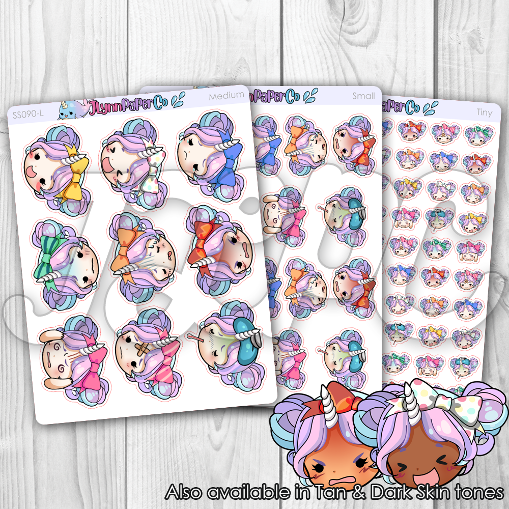 Starshine Emotions Character Stickers | SS090