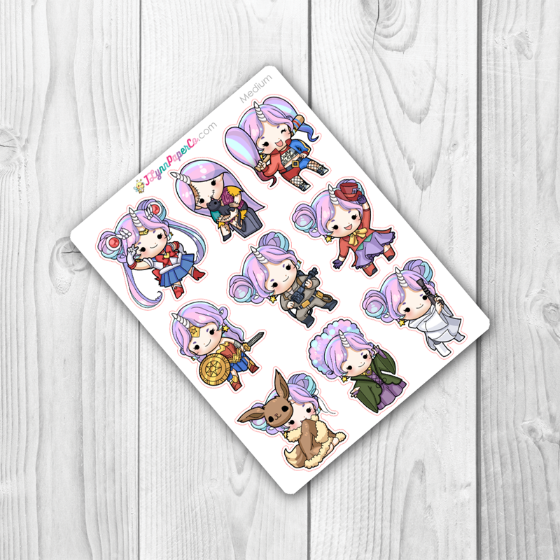 Starshine Cosplay Character Stickers | SS025