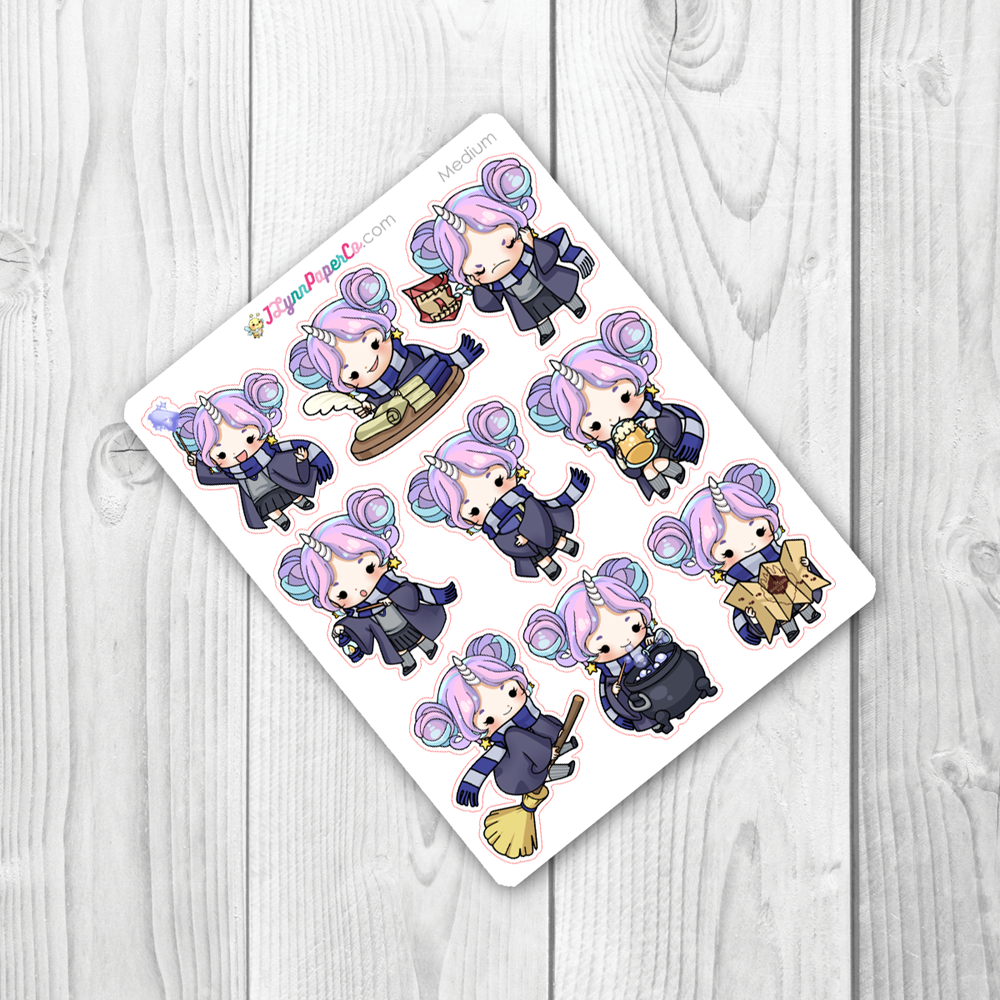 Starshine BLUE Magic School Character Stickers | SS021