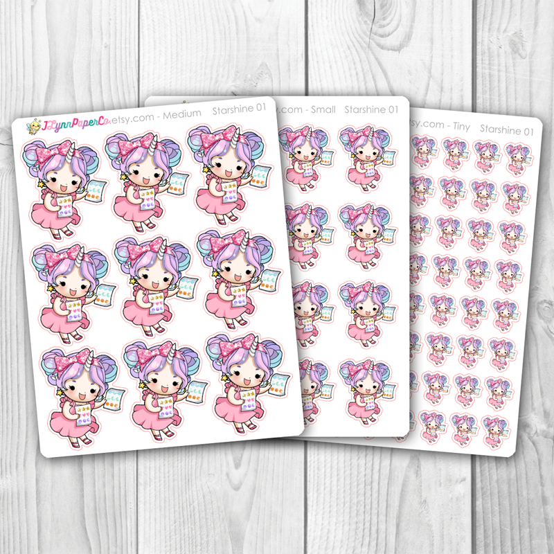 Starshine with Stickers Character Stickers | SS001