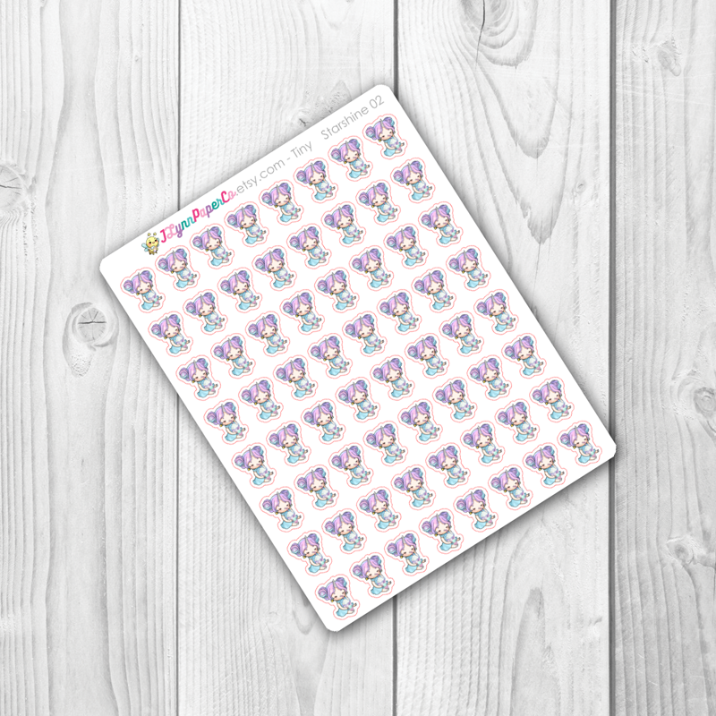 Starshine with Coffee Character Stickers | SS002