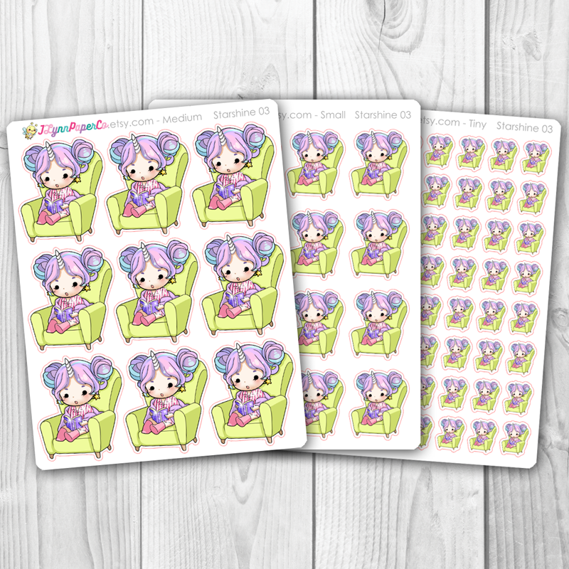 Starshine Reading Character Stickers | SS003