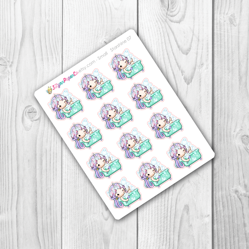 Starshine Bath Time Character Stickers | SS007
