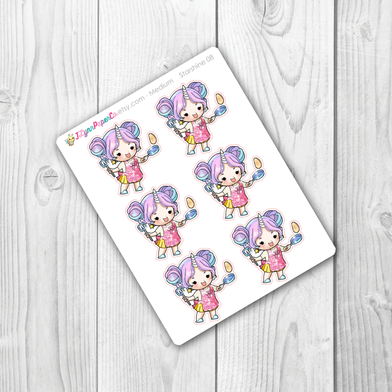 Starshine Cooking Character Stickers | SS008