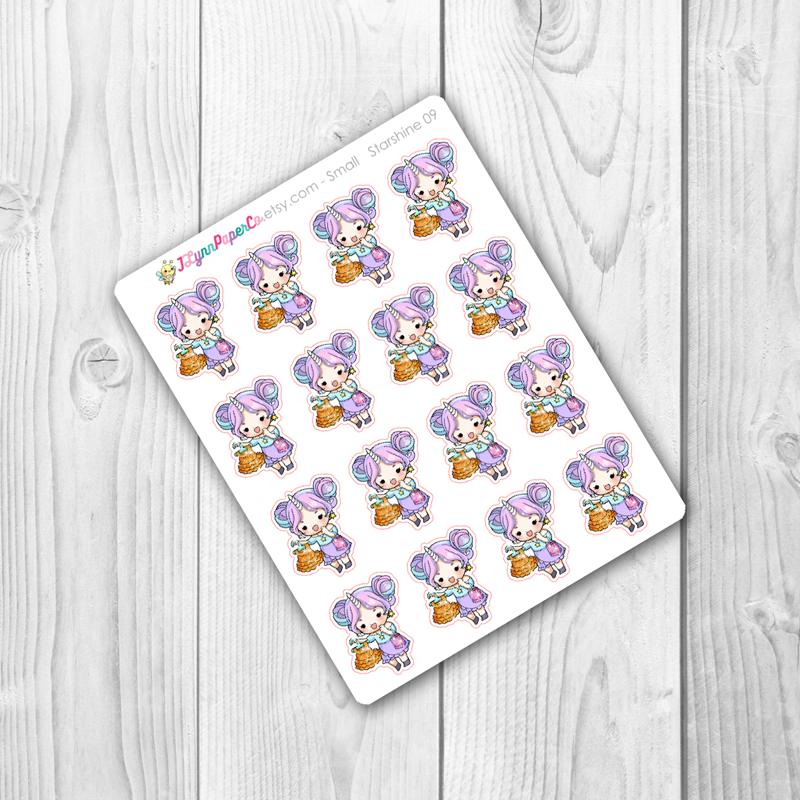 Starshine Shopping Character Stickers | SS009