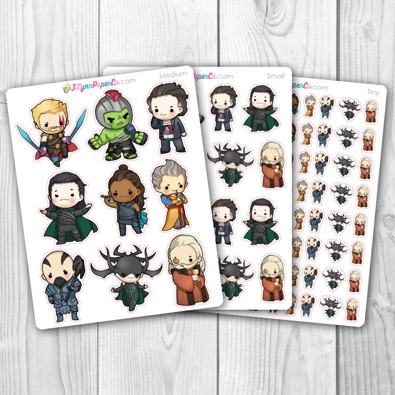 Norse Super Heroes Character Stickers