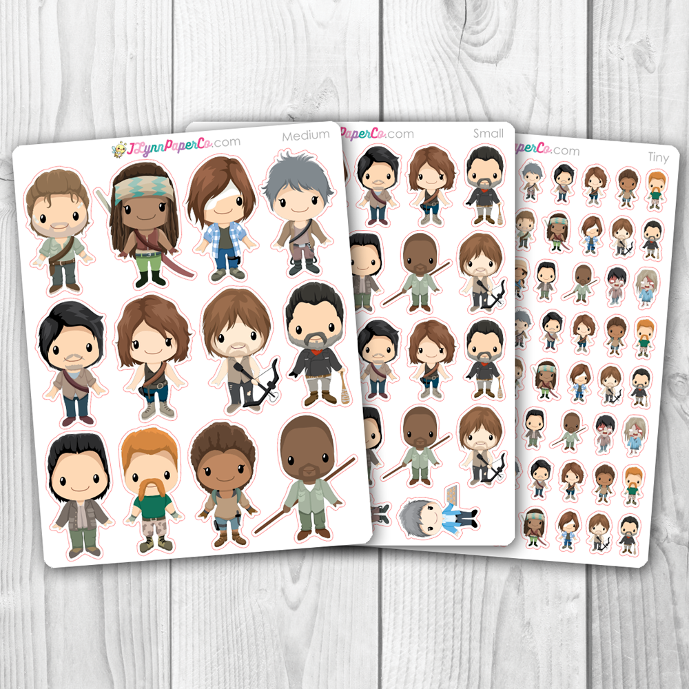 TWD Character Stickers