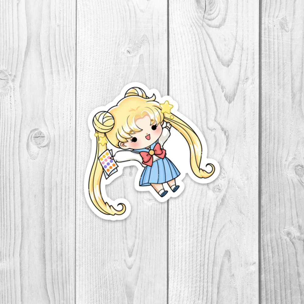 Usagi with Stickers Vinyl Decal