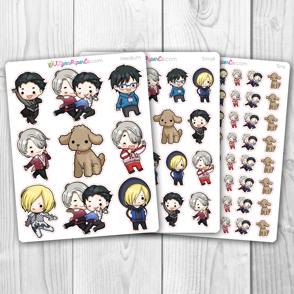 YOI Men's Figure Skating Character Stickers