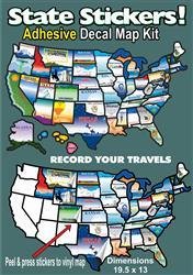 Travel Map Stickers