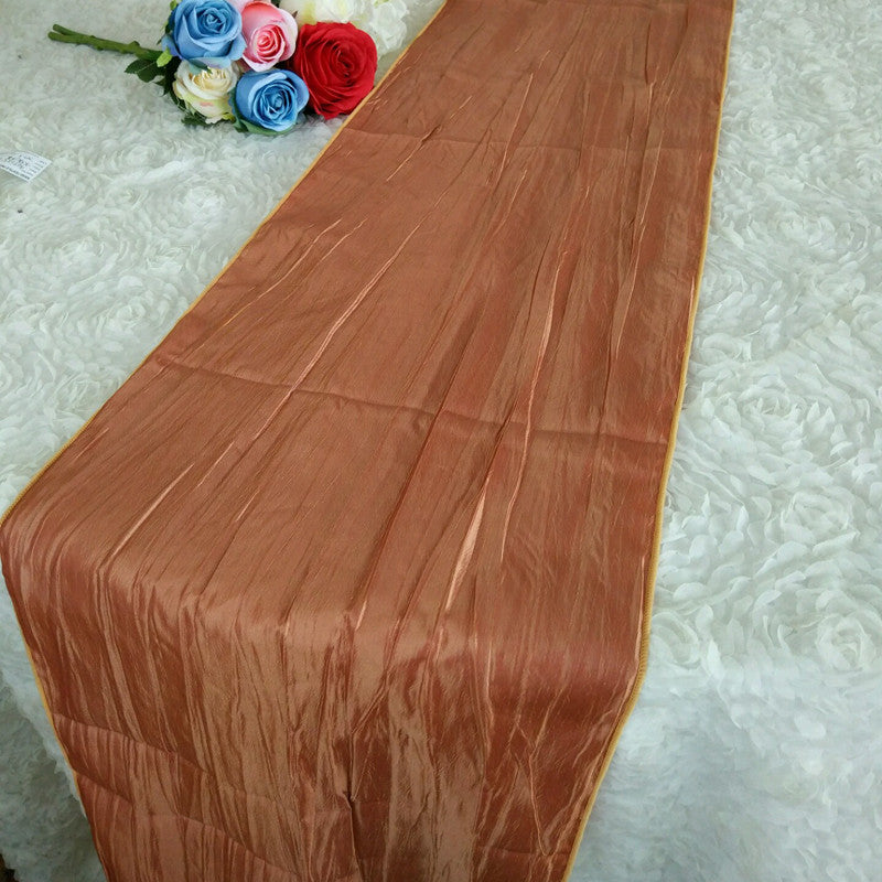 7 Colors 5pcs Lot Crinkle Taffeta Table Runner For Wedding