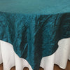 Taffeta Crushed Tablecloth  Teal Wedding Party table Decoration
