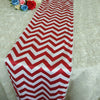 5 PCS/LOT Chevron Matte Satin Printed Table Runner for Wedding, Banquet Red and White