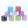 50PCS  Diamond Rhinestone Wedding Napkin Rings Chair Sashes Bows Holder Wedding