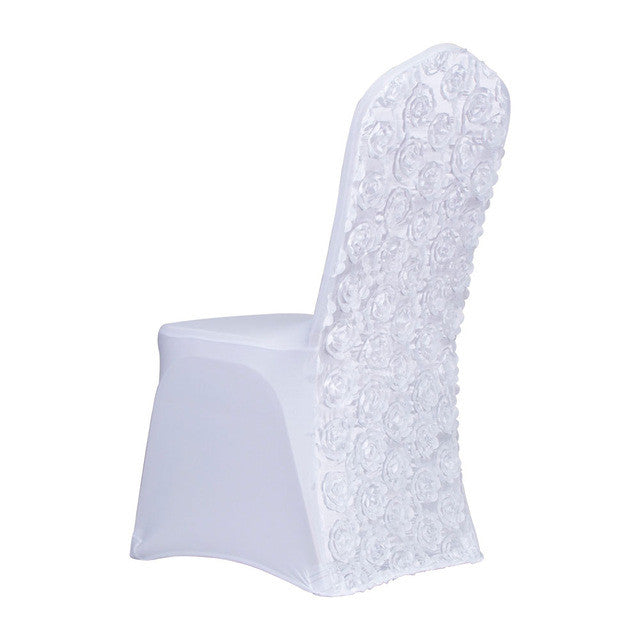 10 pcslot spandex chair covers w3d rosette back 10 colors selection