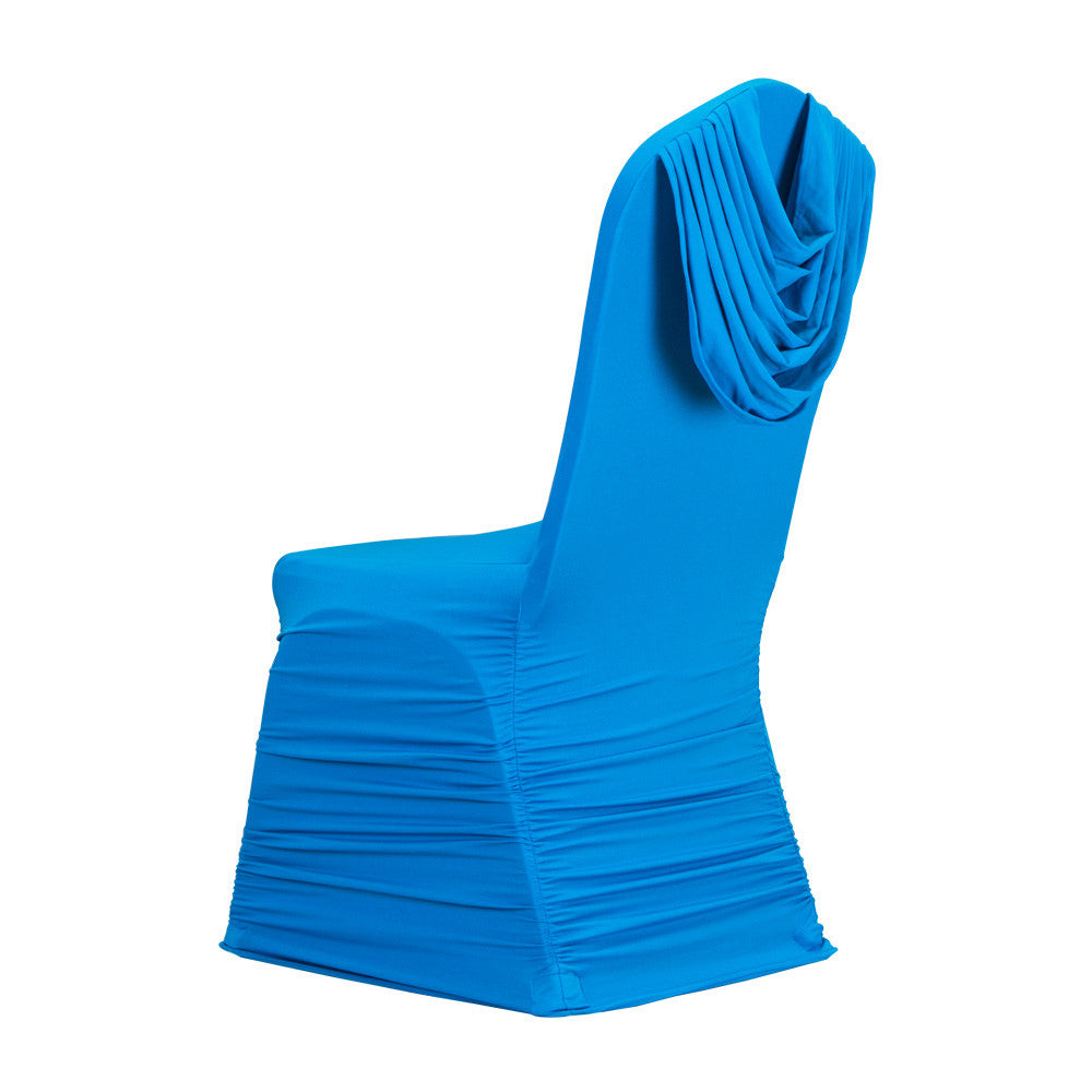 50pcs Lot Ruffle Spandex Chair Covers 10 Colors Selection