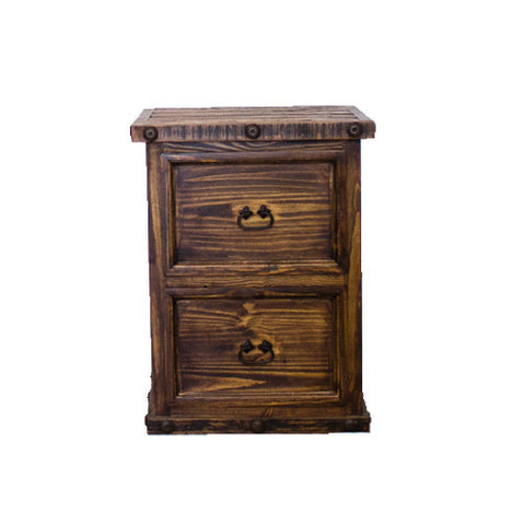 Rustic 2 Drawer File Cabinet