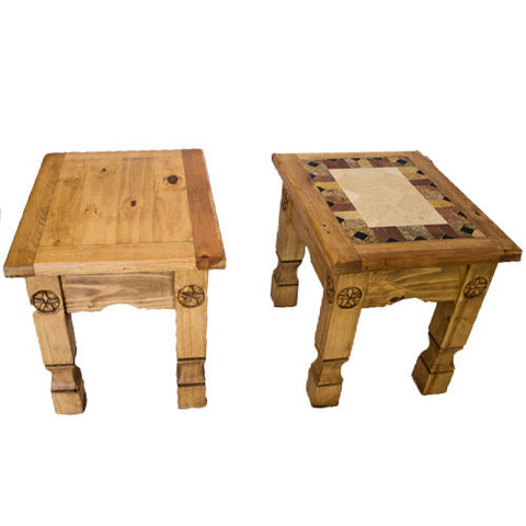 Cowboy Side Table/Cowboy Marble Top Side Table