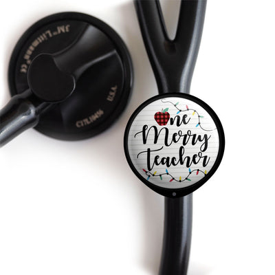 Merry Teacher Stethoscope ID Tag -  - Beyond The Scrubs