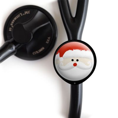 Jolly Santa Stethoscope ID Tag -  - Beyond The Scrubs