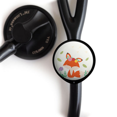 Cute Spring Fox Stethoscope ID Tag -  - Beyond The Scrubs