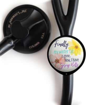 Spring Rolls Stethoscope ID Tag -  - Beyond The Scrubs