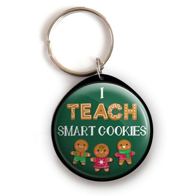 I Teach Smart Cookies Keychain -  - Beyond The Scrubs