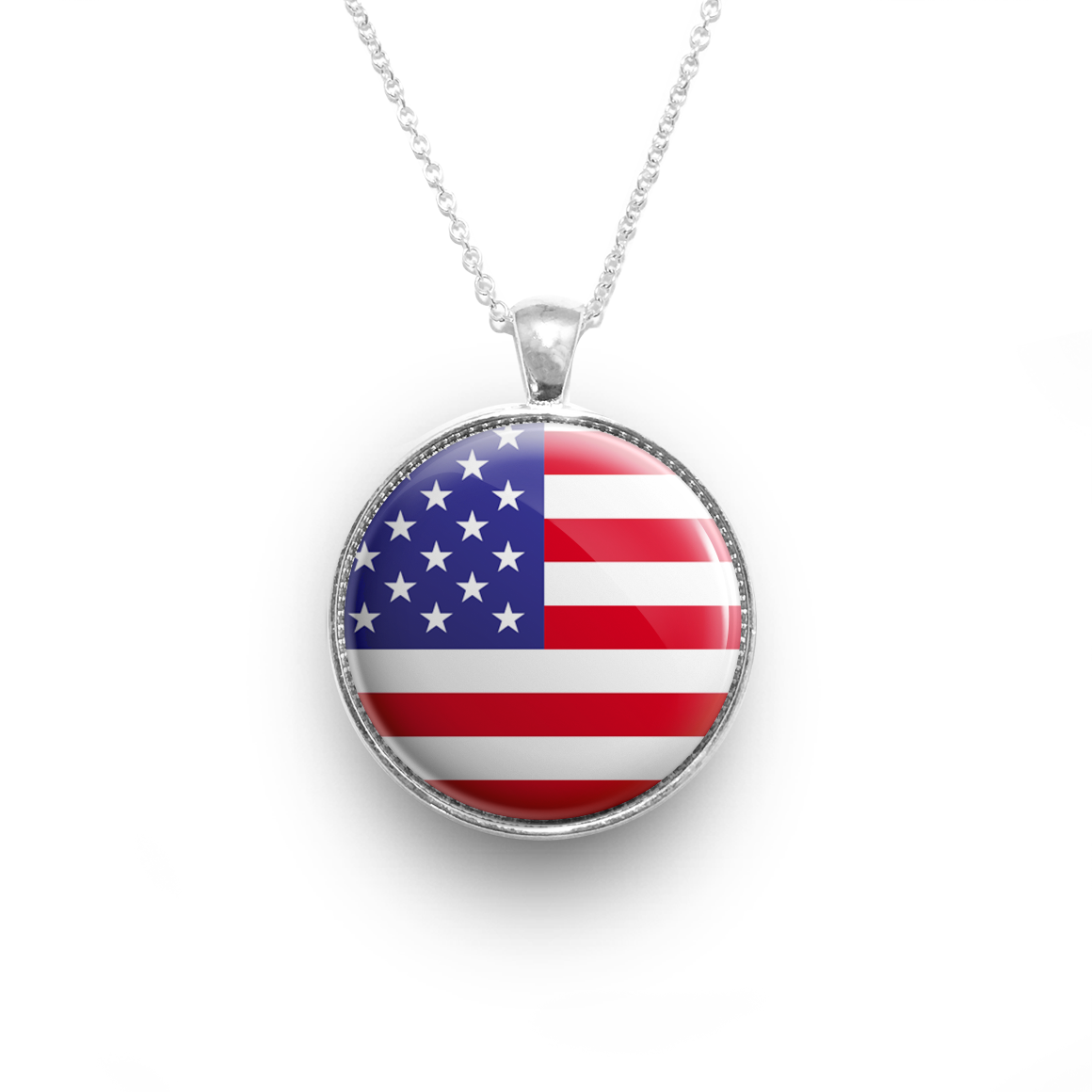 pendant gnoce heart com necklace american flag