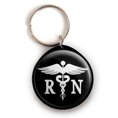 RN Caduceus Keychain -  - Beyond The Scrubs