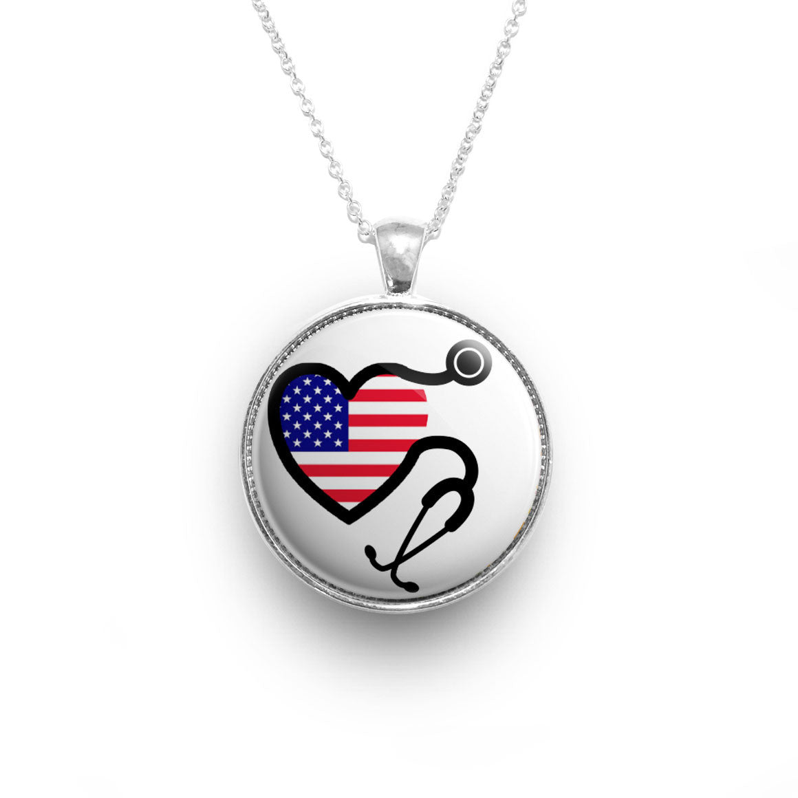 silver american asset transformation flag necklace bracelet in surgical luxury patriotic pride usa gold or steel products