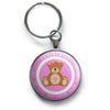 Pediatric Pink Teddy Bear Keychain -  - Beyond The Scrubs