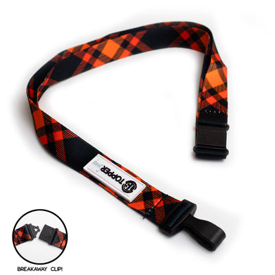 Pumpkin Plaid Breakaway Lanyard -  - Beyond The Scrubs